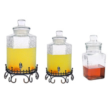 Fabriek Best Verkopende Reliëf Mason Jar Glas Water <span class=keywords><strong>Dispenser</strong></span>/Ijs Koud Drinken Sap <span class=keywords><strong>Drank</strong></span> <span class=keywords><strong>Dispenser</strong></span>