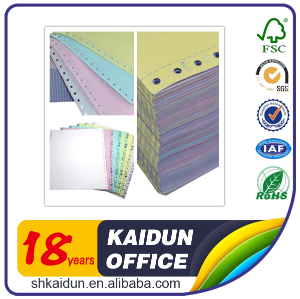 4-ply Computer continuous carbonless printing paper manufacture for office