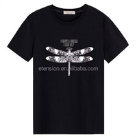 Design Your Own T shirt 100% Cotton Cheap Black T shirt Custom Logo Printing No Minimum. Real Factory With 3-5days
