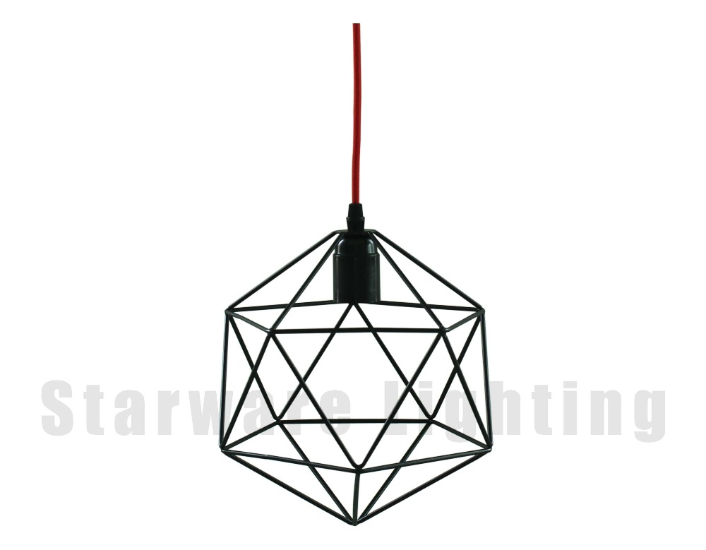 industrial hanging light metal cage lamp edison bulb pendant light