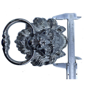 Zinc alloy antique lion head handle vintage style wood door knocker bronze rings handles