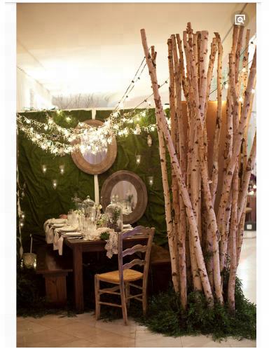 Interior 3m artificial árvore de vidoeiro com falso folhas e tronco natural