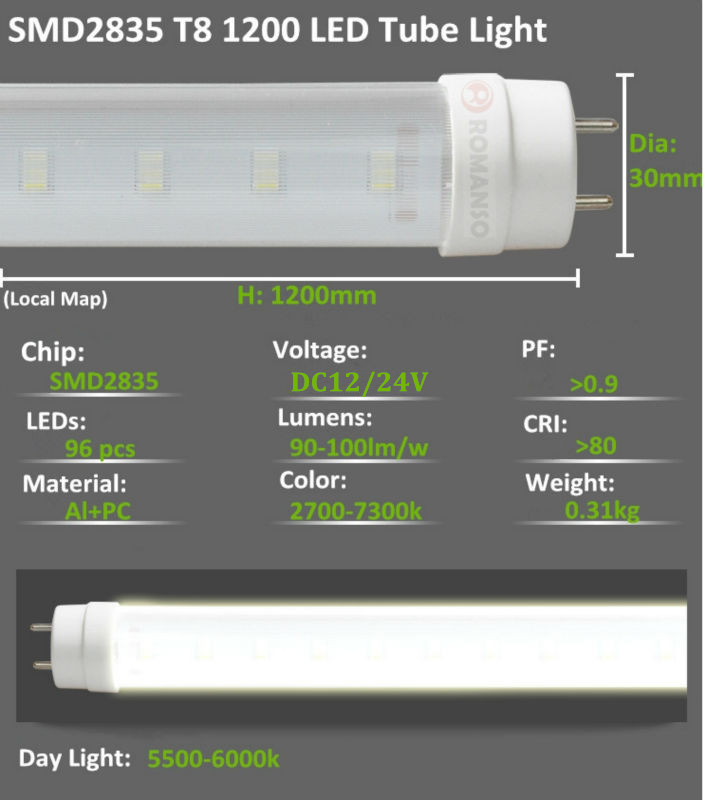 Single 4ft Fluorescent Light Fitting Waterproof Ip65 Led Tube Light Fixture Outdoor T8 Fluorescent Light T8