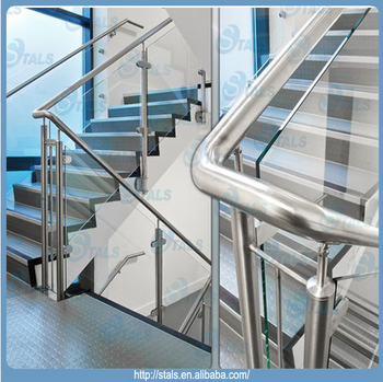 Simple Type Meet Australia Standard Stair Glass Railing Prices Stainless Steel  Stair Railing