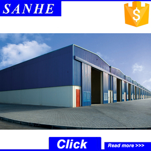 Prefabricated Metal iron structure shed with steel beam and column