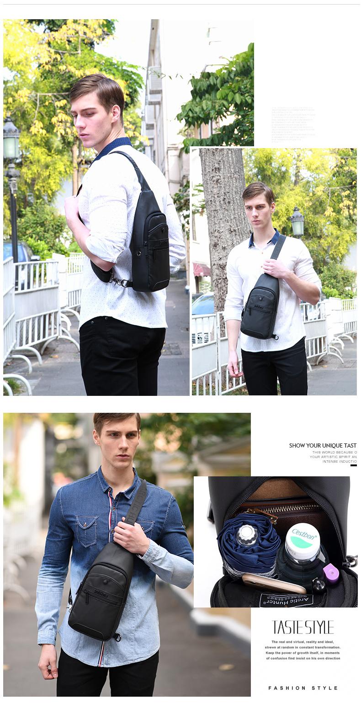 Fashion handbags 2018 Crossbody Bags for Men Messenger Chest Bag Pack Casual Bag Waterproof Single Shoulder Strap