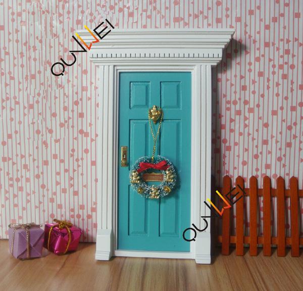 Wholesale price wooden mini door fairy door colorful for Wooden fairy doors to decorate