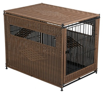 Residence Wicker Dog Crate Animal Cage