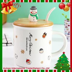 Cheapest personalized christmas red ceramic custom made mug for wholesales