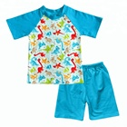 Hot sale wholesale boys boutique clothing dinosaur summer baby outfits