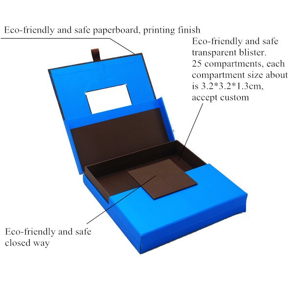 Luxury Fancy Empty Chocolate Packaging Box With 25 Compartments