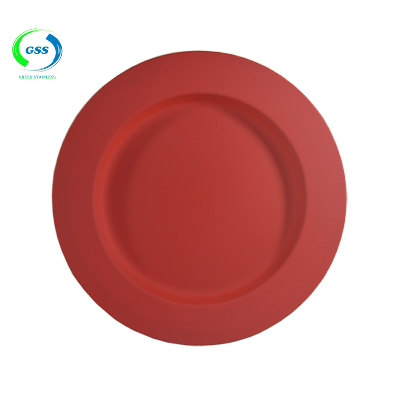 Metal Charger Plates/stainless Steel Red Square Charger Plates/gold ...