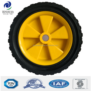 Hot sale 7 inch solid rubber caster wheel for trolley