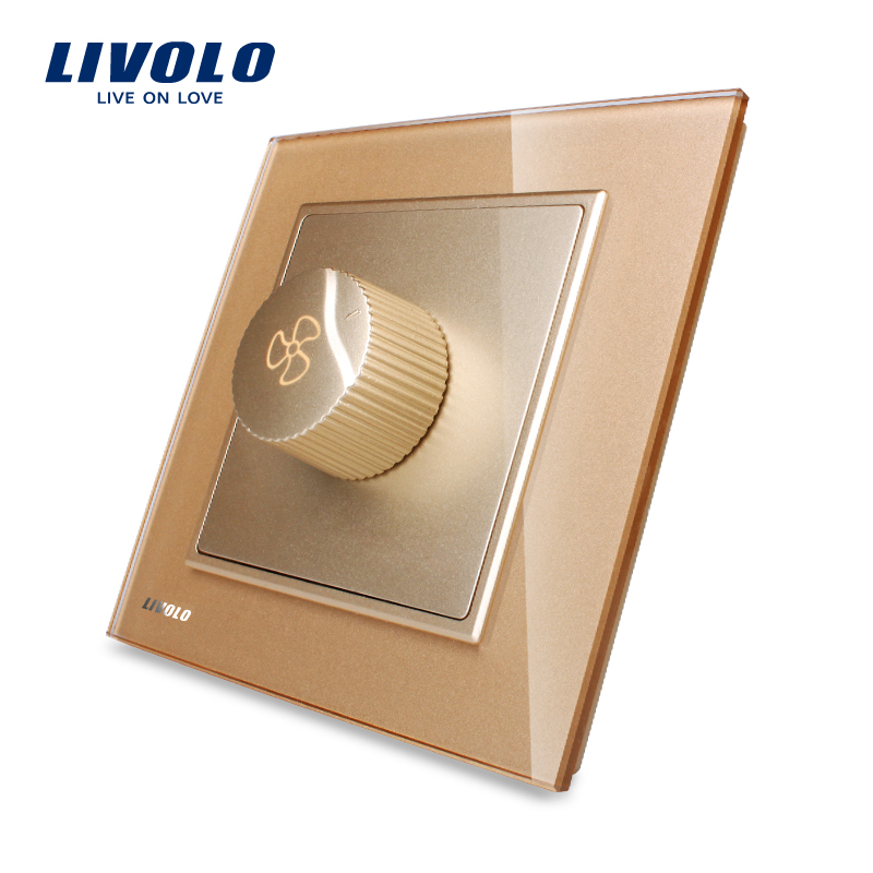 Livolo VL-W291S-13 Speed Regulation Switch 1 Gang Fan Speed Controller Rotary Switch