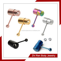 ZhiRen stainless steel non-piercing vibrating Tongue Ring