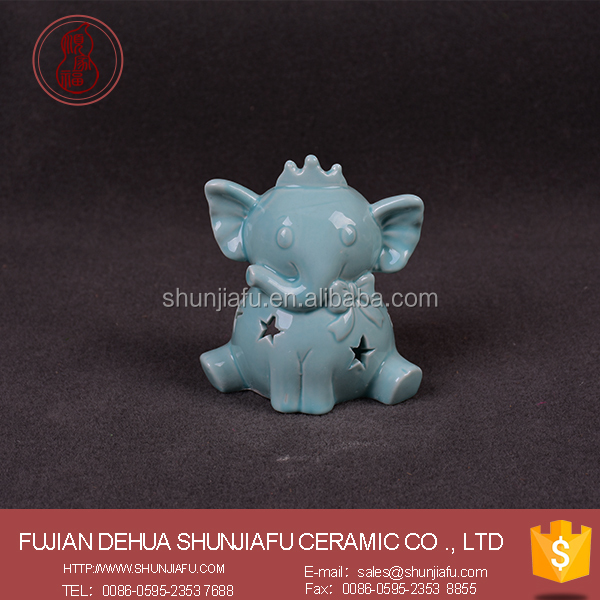 Customize a variety colors Hollow small elephant candle holder