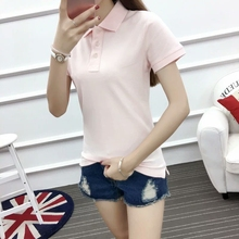 Polo collar and OEM service supply type cheap polo shirt for women