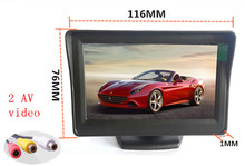 "Free shopping 4.3-inch color TFT LCD display Car parking rearview backup 4.3""2 visual surveillance video  PAL/NTSC"