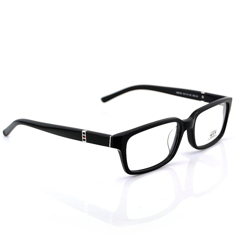 New Pensee Eyeglasses Prescription Black Rectangle Optical Frame 54mm Demo Lens