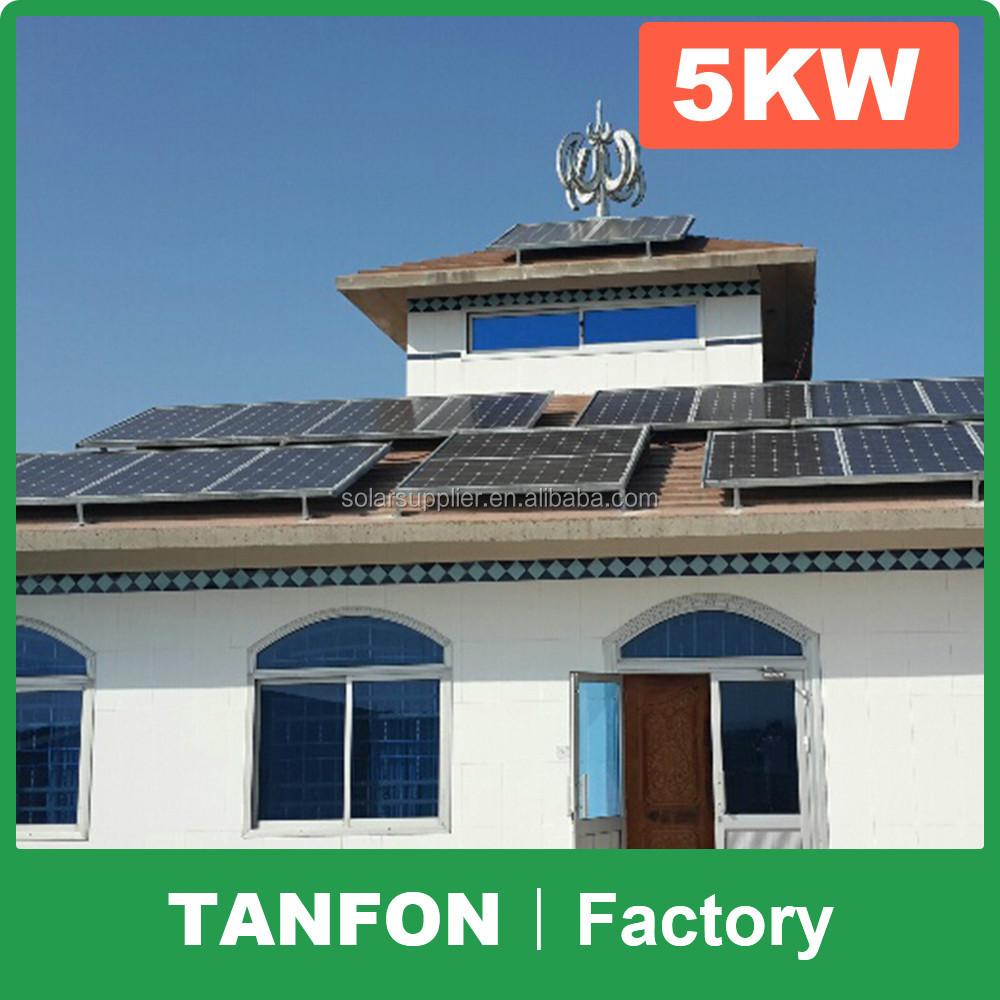 5kw 10kw sistema di generazione di elettricit solare per - Elettricita in casa ...