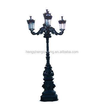 Decorative cast iron lighting pole garden lamp pole manufacturer