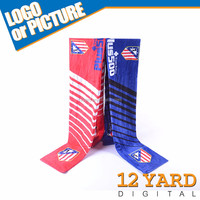 Factory Promotional Sublimation Printing Polyester National Day Scarves For National Activity