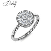 Destiny Jewellery wholesale fashion women ring 18K gold plating cutome ring hot sale made with crystals from swarovski