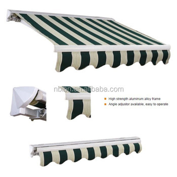 Manual Retractable Awning Outdoor Adjustable Sunshade