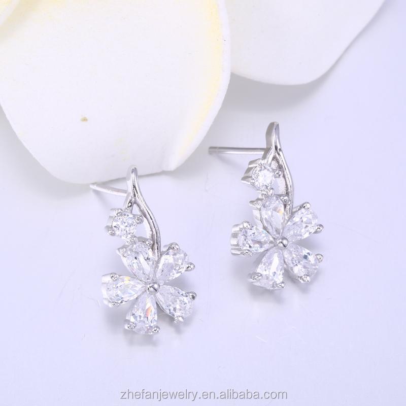 Artificial Diamond Stud Earrings Korean Fashion Jewelry Design Indian Bridal Necklace Set Sets Kundan