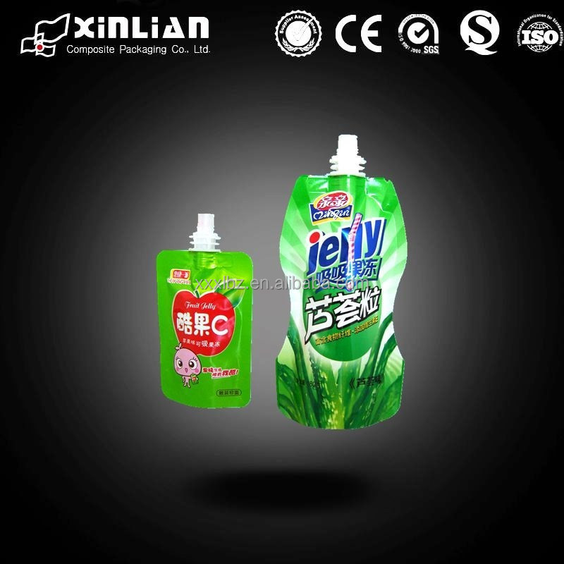 juice packaging,drink plastic spout bag,beverage stand up pouch