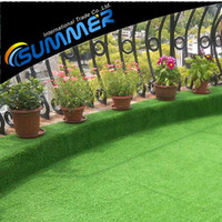 Popular use green landscaping synthetic lawn artificial grass for family