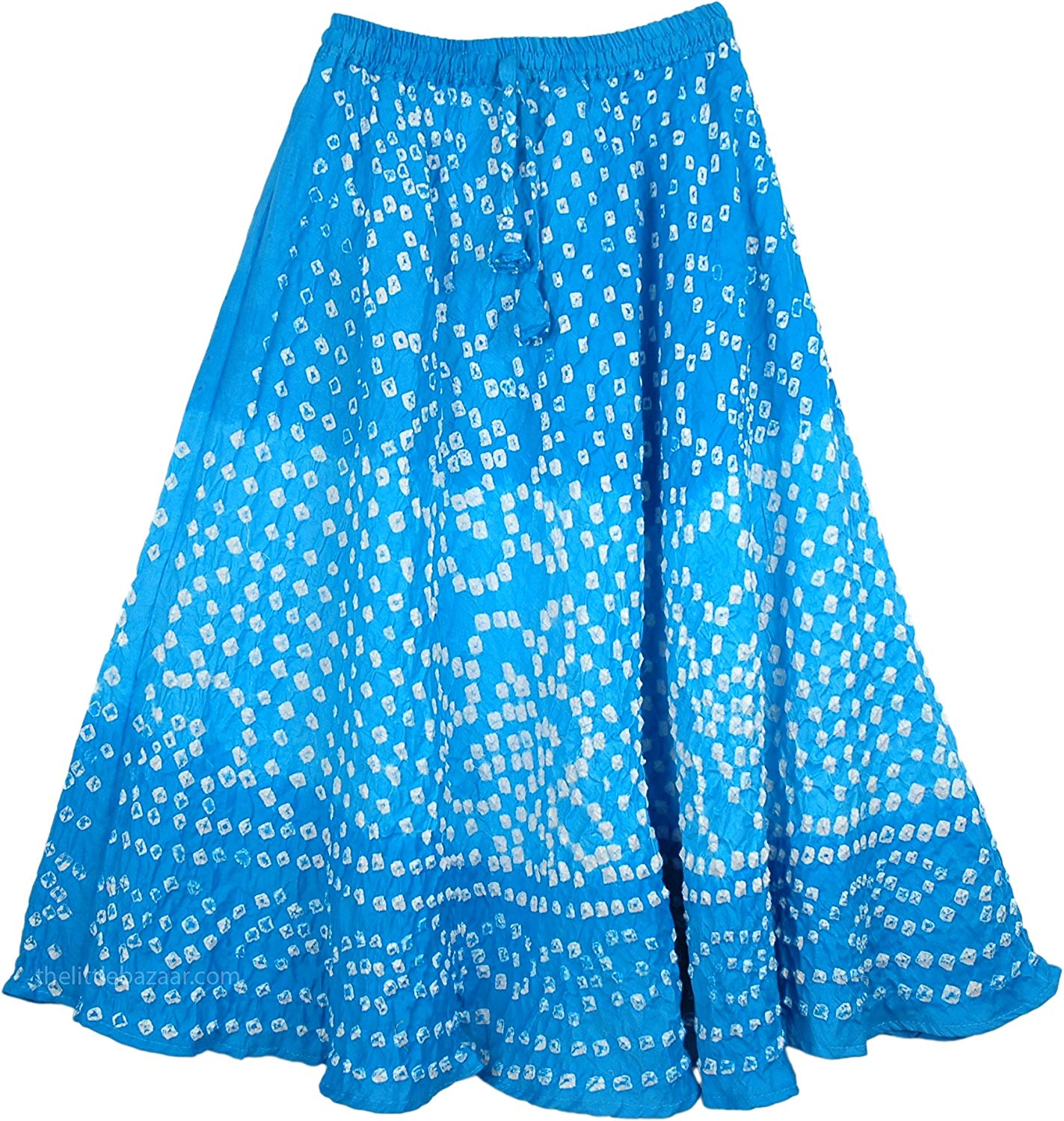 "TLB Horizon Blue Juniors Tie Dye Skirt - L: 25""; W: 22""-30"""