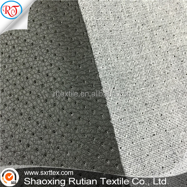 embossed wet pu leather