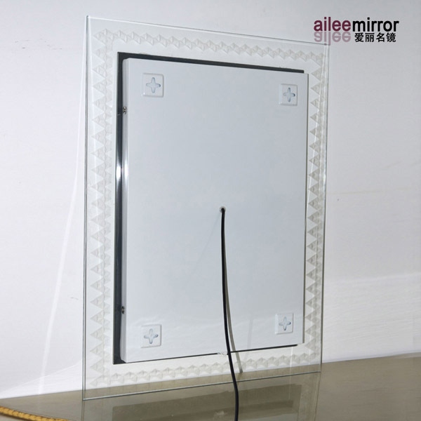 New Design Frosted Surround Led Ambient Bathroom Mirror With Ultra ...