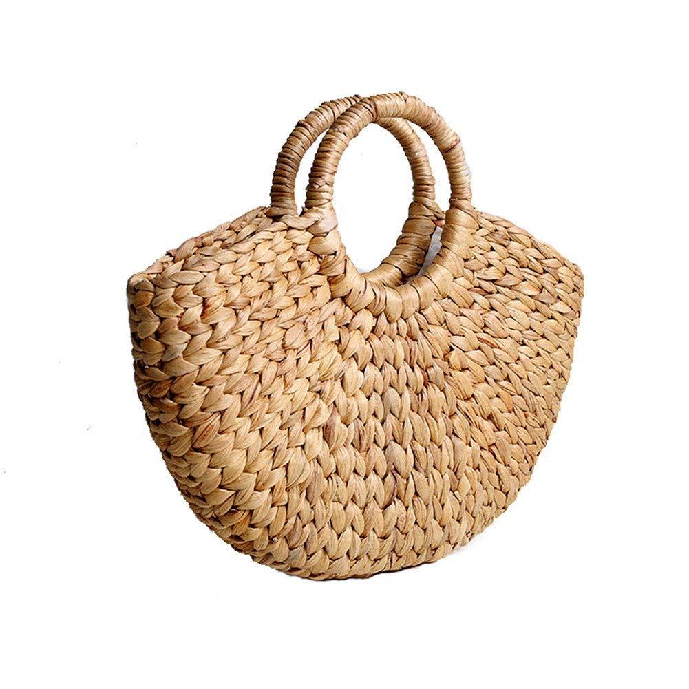 472956739ecd Buy SHZONS Bamboo Handbag, Handmade Woven Tote Bamboo Purse Straw ...