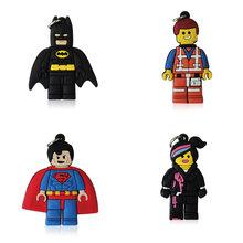 Мини-подвески супергероев из ПВХ, 100 шт./лот, подходят для брелков и ожерелий, модные аксессуары, подарок для детей(Китай)