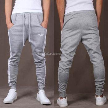 premium selection 82d26 c692d Wholesale Custom Made Men s Grey Plain Fitness Gym Wear , Cotton Fleece  Jersey Tapered Jogger Pants