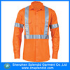 mechanic orange reflective high visibility work shirt