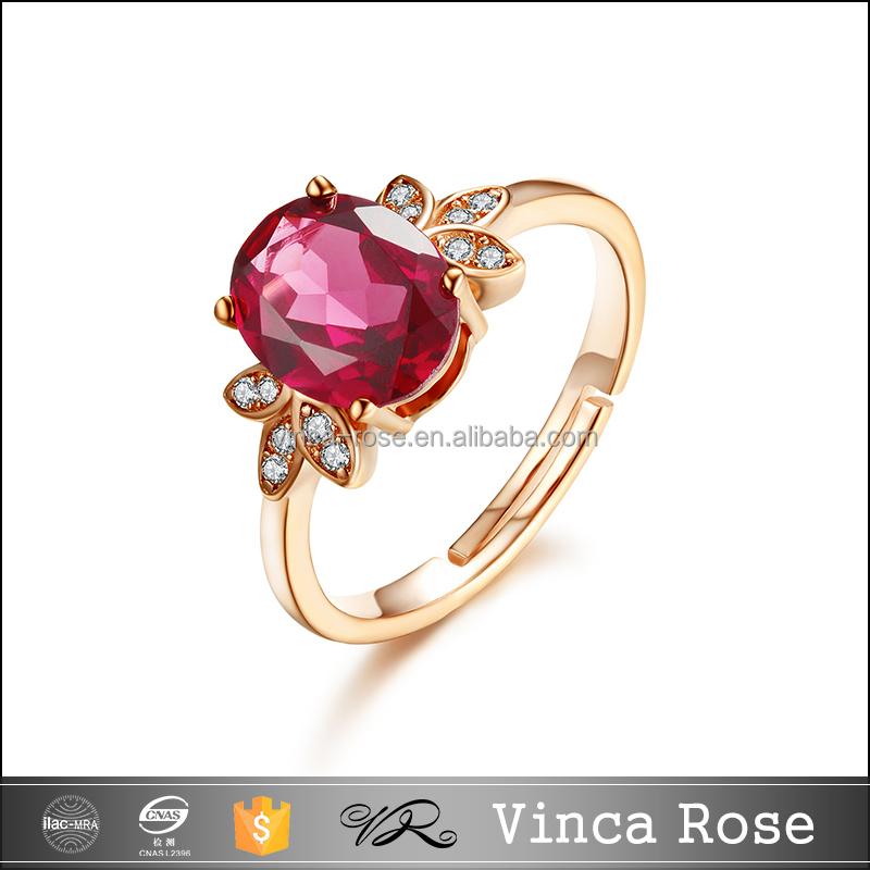 Natural garnet gem stone gold plated ali express canada silver ring jewelry for girls