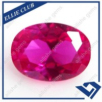 10*14mm oval diamond cut 3# imitation pink ruby gems