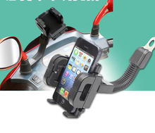 360 Degree Rotation Motorcycle Mobile Phone, GPS Stand Holder Mount Bracket