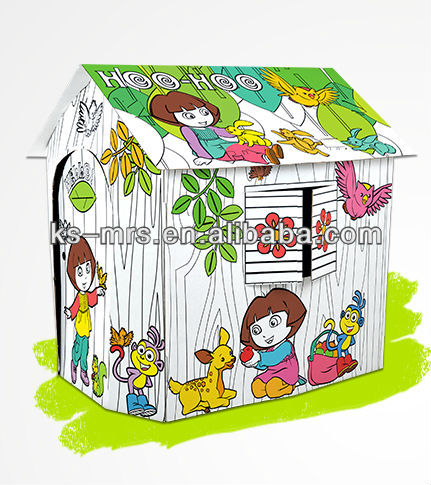 Enjoy the game theme of doll playhouse for kids toy diy assembly house