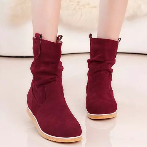 wholesale new winter warm lady shoes vintage style suede girls woman boots