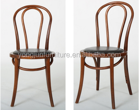 Bentwood Chair With Pu Seatbent Solid Wood Elegant Dining – Thonet Dining Chair