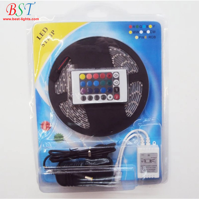 SMD 3528 2835 Waterproof <strong>RGB</strong> DC 12V LED Flexible Strip light tape full set led strip for home decoration