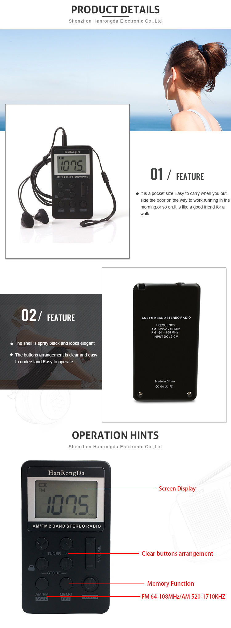 2019 People Outdoor Favor Mini Headset Am Cheap Fm Portable Radio