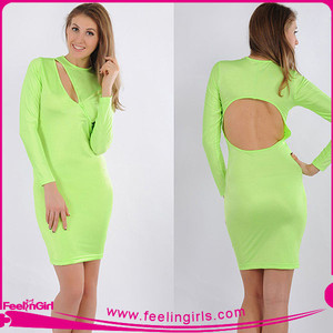00f76a8aca2d Wholesale Sexy Cheap Lime Green Bandage Dress