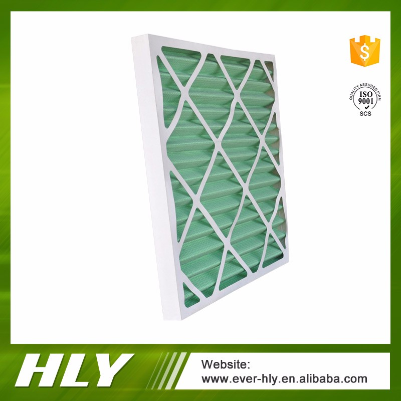 5 Micron g1 g2 g3 g4 cardboard frame pre air filter for HVAC system