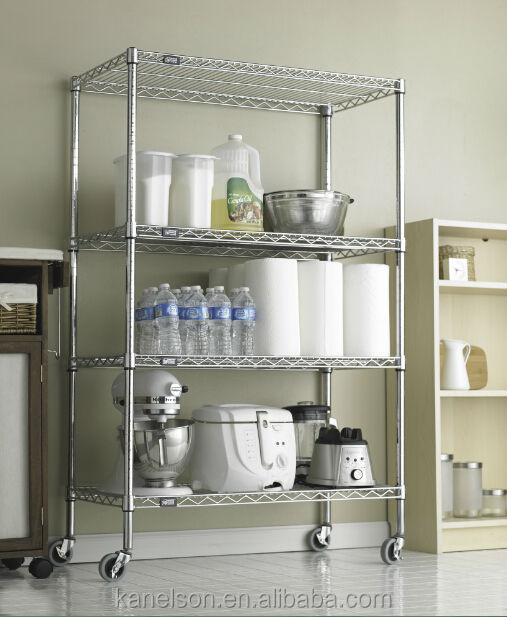 Wire Shelving Restaurant Kitchen Stainless Steel Shelves 4