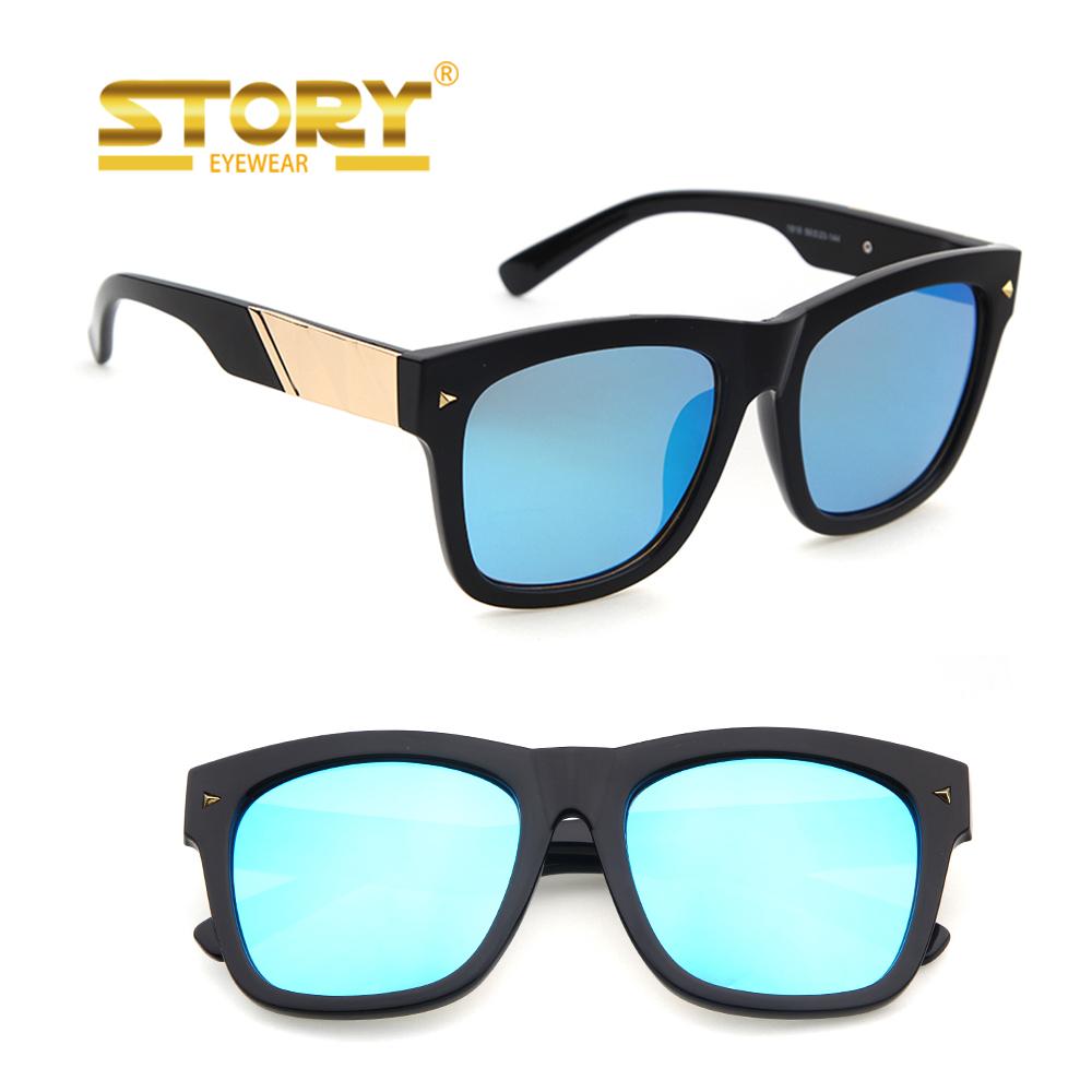 Story gafas de sol marco molde copia acetato grueso marco multi ...